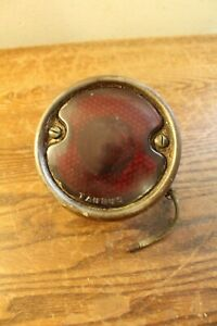 Vintage Automobile tractor Taurus Brand Tail Or Brake Light With Red Glass Lens