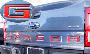 Raised Tailgate Inserts Letters Emblem For Ford Ranger 2019 2021 red