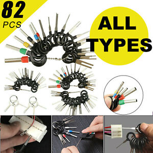 82pcs Pin Ejector Wire Kit Extractor Auto Terminal Removal Connector Tools Usa