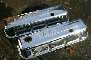 Moroso Vintage Chrome Valve Covers Bbc Big Block Chevrolet