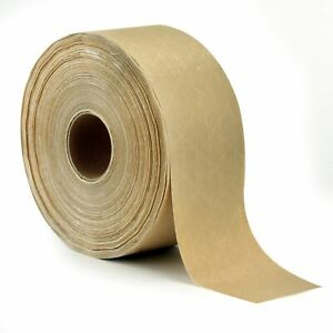 Reinforced Gummed Kraft Paper Packing Tape 2 75 Inches X 375 Feet Water Activ