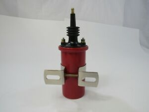 Ignition Coil 45 000 Volt Canister Cylindrical Style Male Connection 12v Red