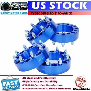 4pcs 2 8 Lug 8x6 5 Wheel Spacers Adapters For Gmc Chevy Silverado C K 2500 3500
