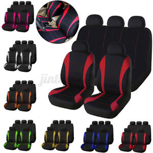 9 Pcs Car Suv Van Seat Covers 9 Pieces Front Rear Full Interior Set Split Us