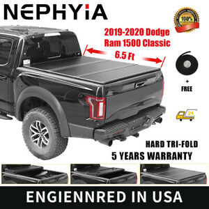 For 2019 2020 Dodge Ram 1500 Classic Hard Tri Fold Tonneau Cover 6 5ft 78in Bed