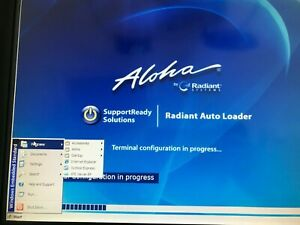 Radiant 7752 Pos Touch Screen Terminal Aloha W Credit Card Reader