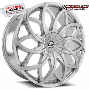 Azara Wheels Aza 504 Chrome 20 X8 5 Custom Wheel Rim Set Of 4