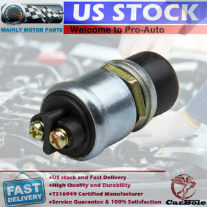 12 Volt Horn Engine Ignition Start Momentary Push button Starter Switch 50 Amps