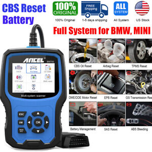 For Bmw Cbs Abs Airbag Transmission Reset Replace Battery Registration Auto Scan