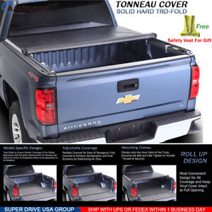 Fits 2007 2013 Gmc Sierra Premium Soft Lock Roll Up Tonneau Cover 6 5ft Bed