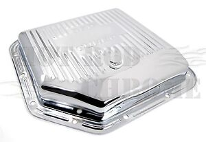 Gm Turbo 350 Transmission Pan Finned Chrome Steel Stock Depth