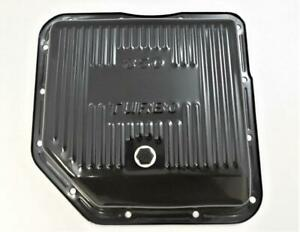 Gm Turbo 350 Transmission Pan Finned Black Steel Stock Depth 2