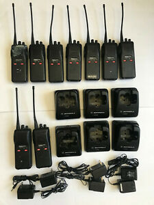 Lot Of 9 Motorola Radius Sp50 Way Radio Uhf 150 170 Mhz With 6 Chargers Used