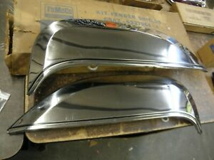 Nos Oem Ford 1965 Galaxie 500 Stainless Steel Fender Skirts Xl Skirt Pair