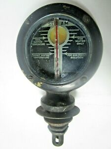 Vintage Antique Boyce Moto Meter Radiator Cap Steam Temperature Gauge Clear
