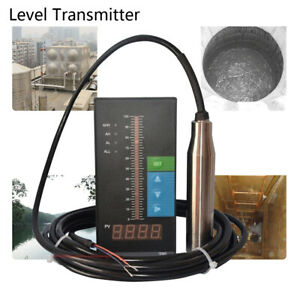 Submersible Water Level 4 20ma Transmitter Sensor W Digital Display Control