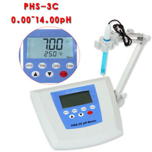 Lab Benchtop Ph Mv Meter Tester Monitor Temperature Compensation Screen Lcd
