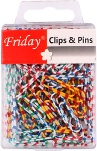 Small Paper Clips Colored For Home Office Organization 28mm Zebra 100 Pcs