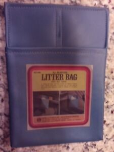 Vintage Hollywood Accessories Litter Bag All Purpose 446 Blue