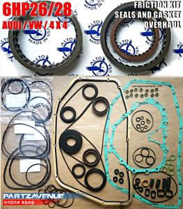 Friction And Seals With Gasket Kit Set 6hp26 6hp28 zf Gearbox Audi Vw 2wd 4wd