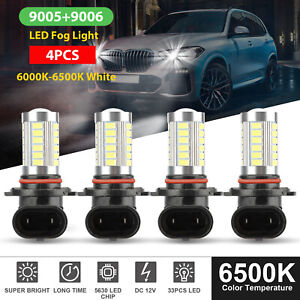 4x 9005 9006 Led Combo Headlight Bulbs High Low Beam Kit 6500k Xenon Super White