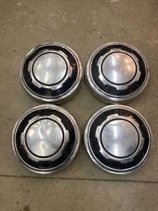 4 Vintage Hubcaps Hub Caps Beautiful 11 Dog Dish Unknown What They Fit