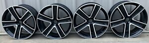 2017 2019 20 Audi Q8 Quattro Oem Factory Wheels Gloss Black And Machined 59062