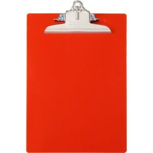 Saunders Antibacterial Clipboard w Hanging Hole 1 Cap 9 x12 red