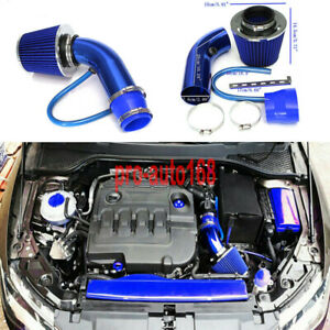 3 Universal Auto Car Cold Air Intake Filter Aluminum Induction Hose Pipe Kit