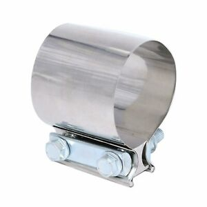 3 Stainless Steel Exhaust Clamp Joint Band For Catback Muffler Pipe