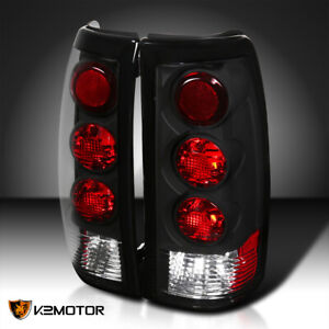 1999 2003 Chevy Silverado Gmc Sierra 1500 2500 3500 Tail Lights Black Pair