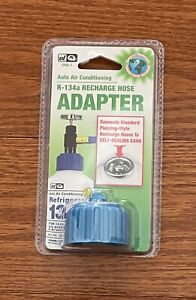 New Sealed Interdynamics R 134a Self Sealing Can Recharge Hose Adapter Auto Air