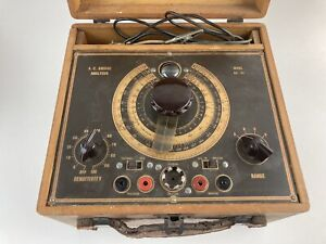 Vintage Electrical Test Equipment Ac Bridge Analyzer Model Br 44 Wood powers On