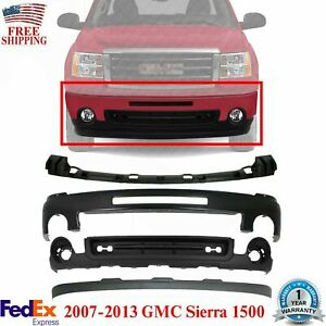 Front Bumper Primed cover Bracket valance extension For 2007 013 Gmc Sierra 1500