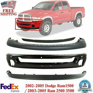 Front Bumper Primed Steel Kit For 2002 2005 Dodge Ram 1500 2003 2005 2500 3500