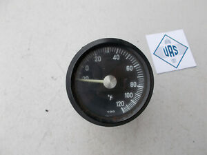 86 Mercedes 560sl R107 Fahrenheit Center Dash Outside Temperature Gauge 107835