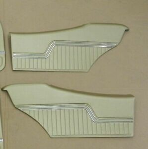 1970 Chevelle Coupe Rear Interior Assembled Door Panels These Are Gold