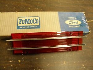 Nos Oem Ford 1965 Mercury Comet Tail Light Lamp Lens Cyclone Caliente
