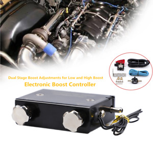 Auto Dual Stage Electronic Turbo Boost Controller Psi Turbocharger W switch Kit