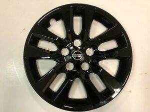 1 New 16 Gloss Black Hub Cap Wheelcover That Fit 2007 2018 Nissan Altima