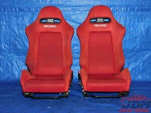Jdm 2002 2006 Honda Integra Type R Acura Rsx Dc5 Oem Red Recaro Seats Rails 1