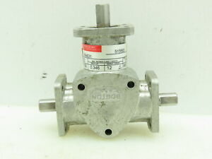 Boston Gear Ra631 Spiral Right Angle Bevel Speed Reducer 1 1 Ratio 3 8 Shaft