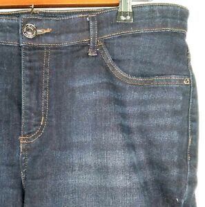 LEE 12 Short P Blue Jeans Midrise Straight Cotton Blend Stretch Women $14.00