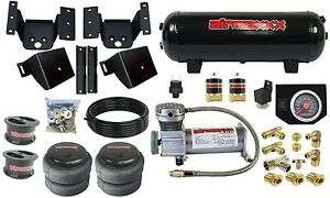 Air Helper Kit W On Board Controls For 4 Lifted 2011 17 Chevy 8 Lug Truck