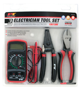 3 Piece Electrician Tool Set Performance Tools W1714
