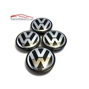 Set Of 4 Used Oem Vw Volkswagen 2 5 Center Caps Beetle Passat 3b7 601 171