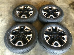 Set Of 4 17 Jeep Compass Trailhawk Wheels And Tires Like New Factory Oem