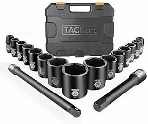 1 2 Inch Drive Large Socket Set Of 17 Metric 10 32 Cr V Extension Bars