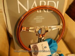 Nardi Italy Steering Wheel Classic Wood 390mm Glossy Bamboo Color Defective New