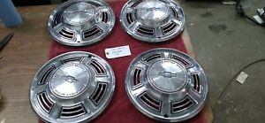 1970 Chevy Chevelle 14 Set Of 4 Chevrolet Wheel Covers 70 Hubcaps P h 3039